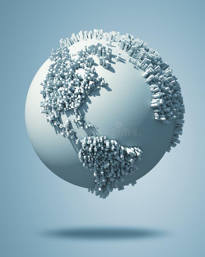 Abstrakte Welt stock abbildung
