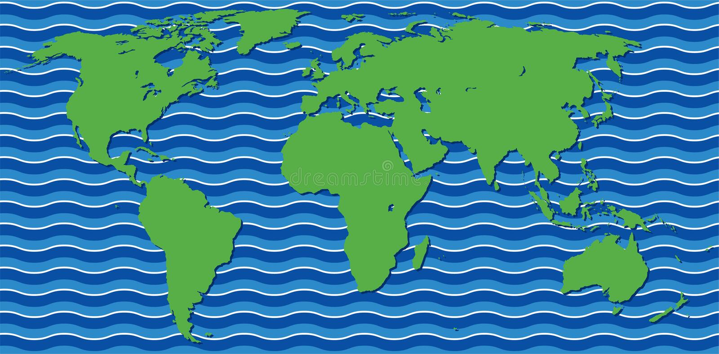Abstrakte Weltkarte stock abbildung