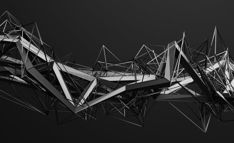 Abstrakte Wiedergabe 3D der polygonalen Form lizenzfreie abbildung
