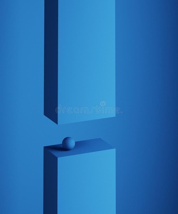 Abstrakte Wiedergabe 3D von geometrischen Formen Minimalistic-Zusammensetzung Dieses ist eine 3D übertragene Abbildung Modernes H stock abbildung