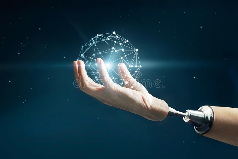 Abstrakte Wissenschaft, kreisen Network Connection des globalen Geschäfts ein lizenzfreie stockfotografie