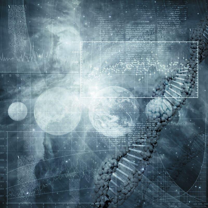 Abstrakte Wissenschaft und Technik-Hintergründe stockfoto