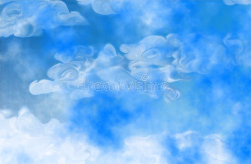 Abstrakte Wolken stock abbildung