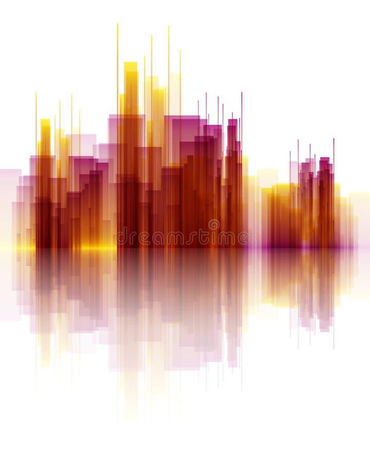 Abstrakte Wolkenkratzerszene lizenzfreie abbildung