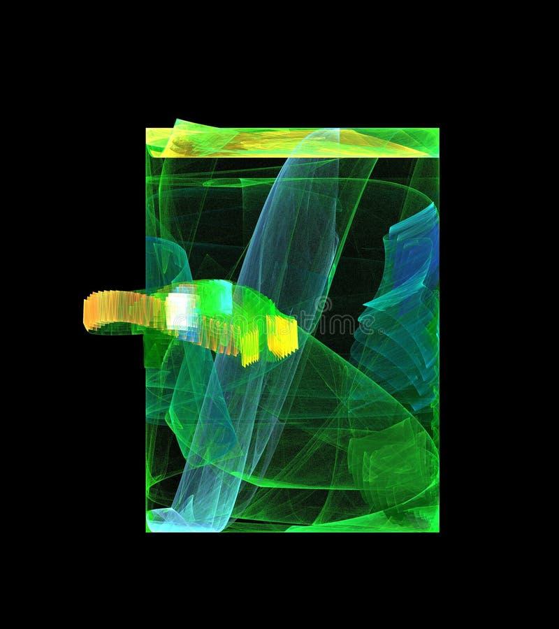 Abstrakte Zahl Zusammensetzung von Farbschneidenen Linien auf einem schwarzen Hintergrund, Fractal, für Abdeckungen, Disketten, W lizenzfreies stockbild