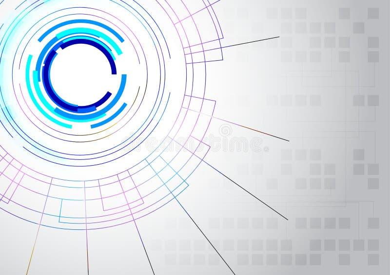 Abstrakte Zeile Technologiehintergrund stockfoto