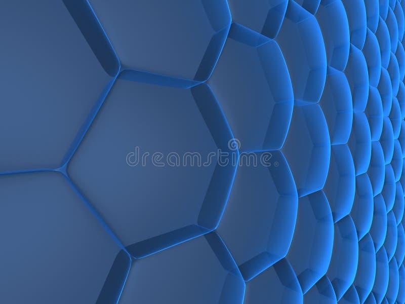 Abstrakte Zellen lizenzfreie abbildung