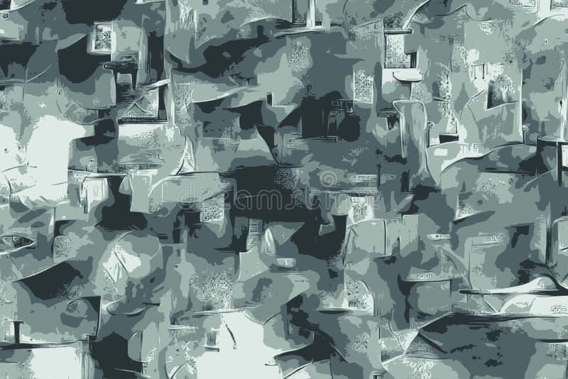Abstrakte Zenschmutzbeschaffenheiten mit Blumenmustern für Hintergrund stock abbildung