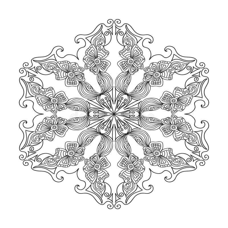 Abstrakte Zentangle Mandala Stock Abbildung - Illustration von ...