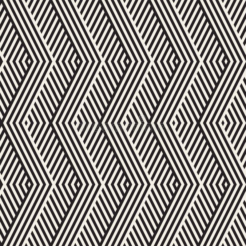 Abstrakte Zickzack-Ähnlichkeits-Streifen Stilvolle ethnische Verzierung Vector nahtloses Muster vektor abbildung
