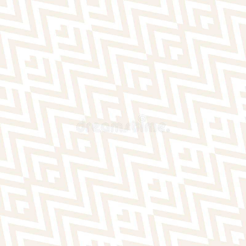 Abstrakte Zickzack-Ähnlichkeits-Streifen Stilvolle ethnische Verzierung Vector nahtloses Muster Subtiler Hintergrund lizenzfreie abbildung