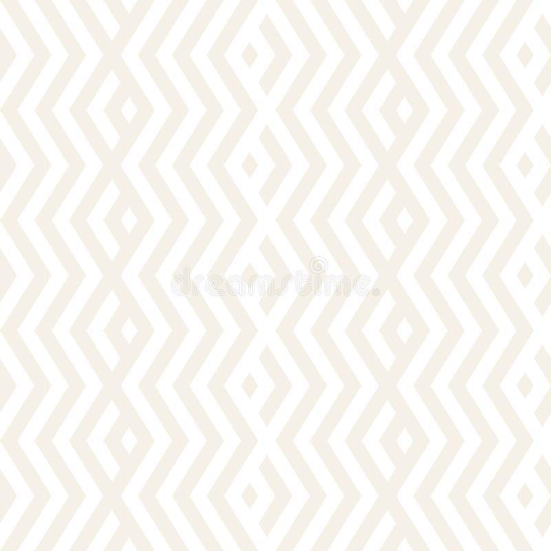 Abstrakte Zickzack-Ähnlichkeits-Streifen Stilvolle Verzierung Vector nahtloses Muster Wiederholen des subtilen Hintergrundes stock abbildung