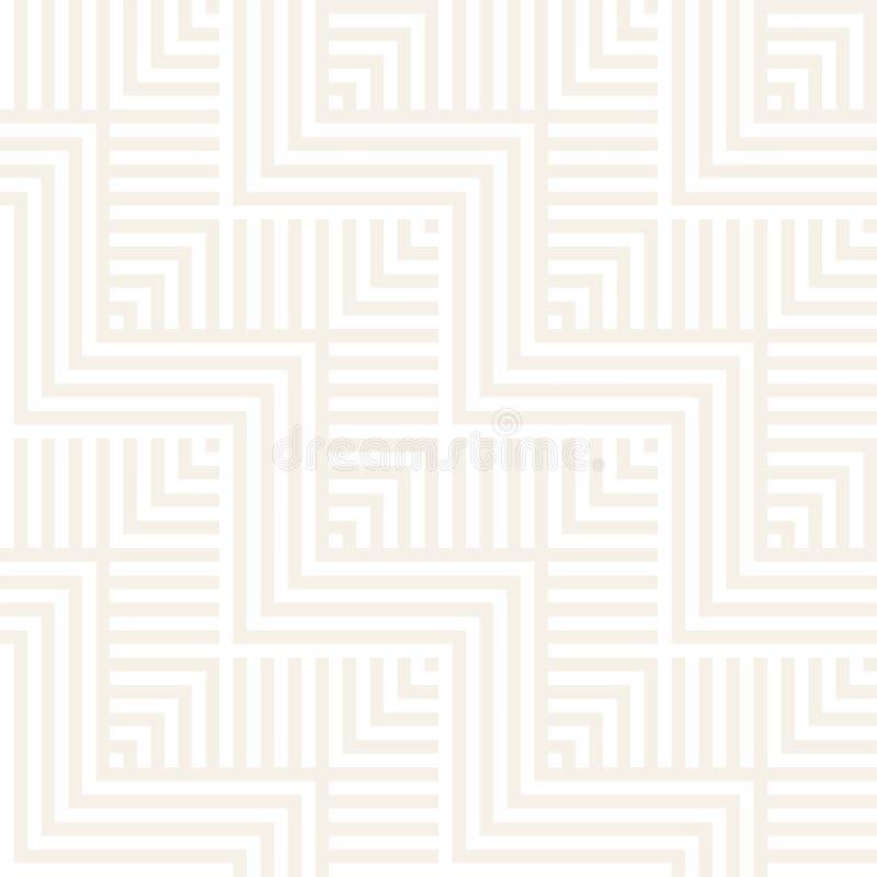 Abstrakte Zickzack-Ähnlichkeits-Streifen Stilvolle Verzierung Vector nahtloses Muster Wiederholen des subtilen Hintergrundes lizenzfreie abbildung