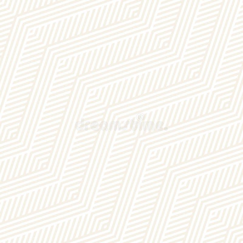 Abstrakte Zickzack-Streifen Stilvolle ethnische Verzierung Vector nahtloses Muster Wiederholen des subtilen Hintergrundes lizenzfreie abbildung