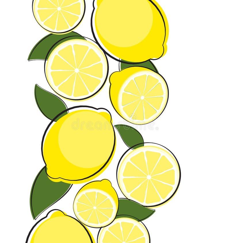 Abstrakte Zitronen-natürlicher Hintergrund-Vektor-Illustration lizenzfreie abbildung