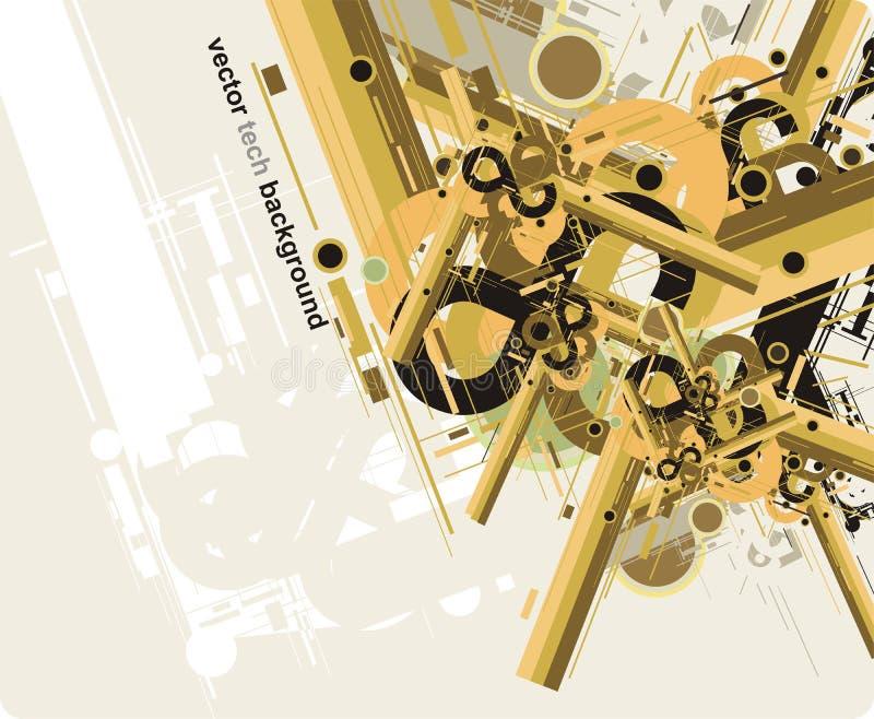 Abstrakte zukünftige Technologie background2 stock abbildung