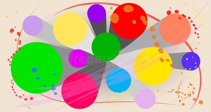 Abstrakte Zusammensetzung im Vektorentwurf lizenzfreie abbildung