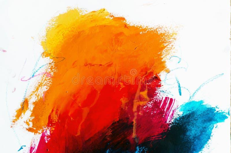 Abstrakter Ölgemäldehintergrund Öl auf Segeltuchbeschaffenheit Hand gezeichnet lizenzfreie stockfotos
