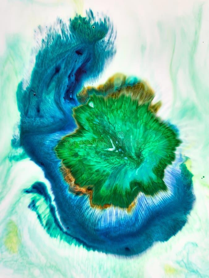 Abstrakter Acryltintenhintergrund stockfotografie