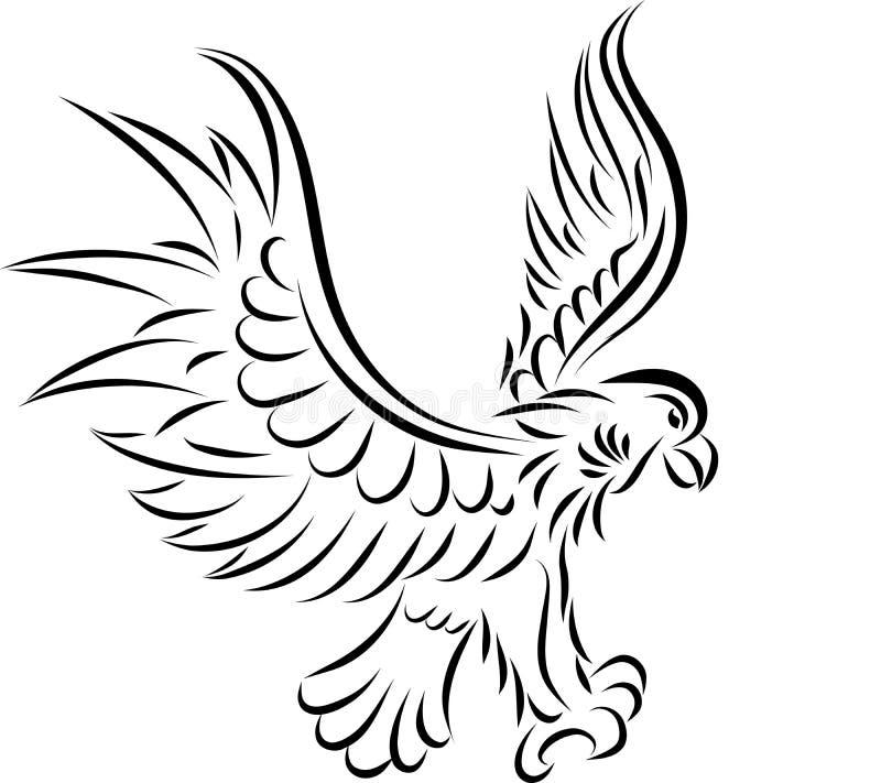 Download Abstrakter Adler, Vektor vektor abbildung. Illustration von jäger - 26370886