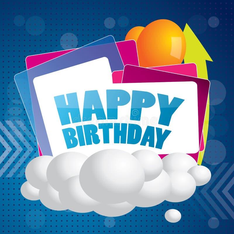 Abstrakter alles Gute zum Geburtstagvektorhintergrund vektor abbildung