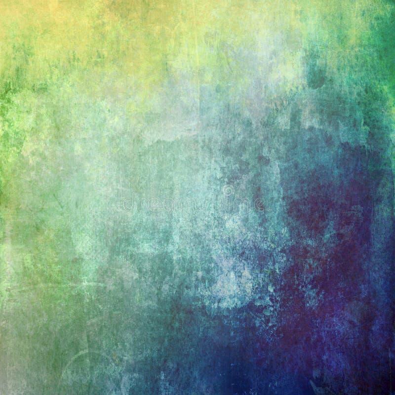 Abstrakter alter Farbensteigungshintergrund stock abbildung
