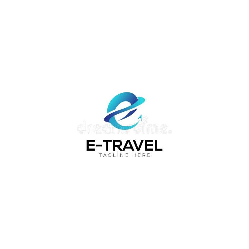 Abstrakter Anfangsbuchstabe E Logo Design lizenzfreie abbildung