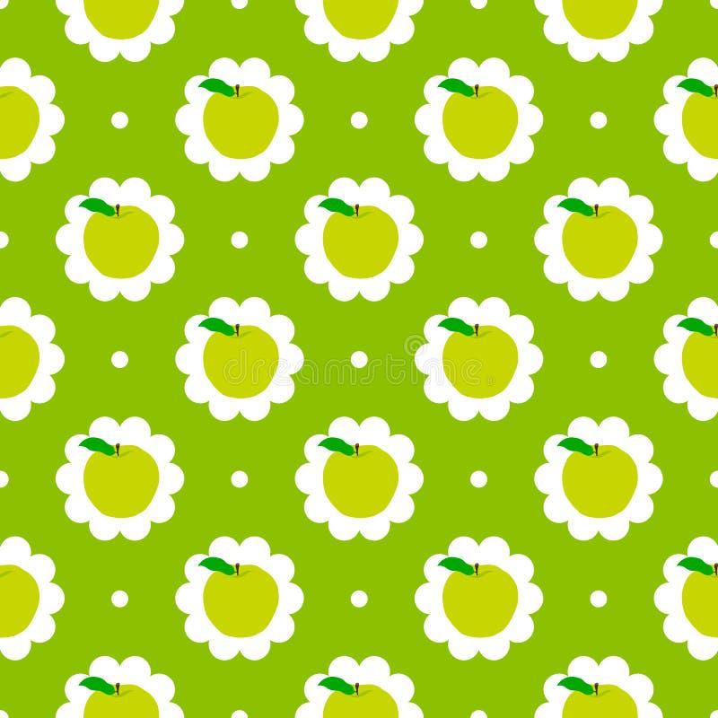 Abstrakter Apfelmusterhintergrund vektor abbildung
