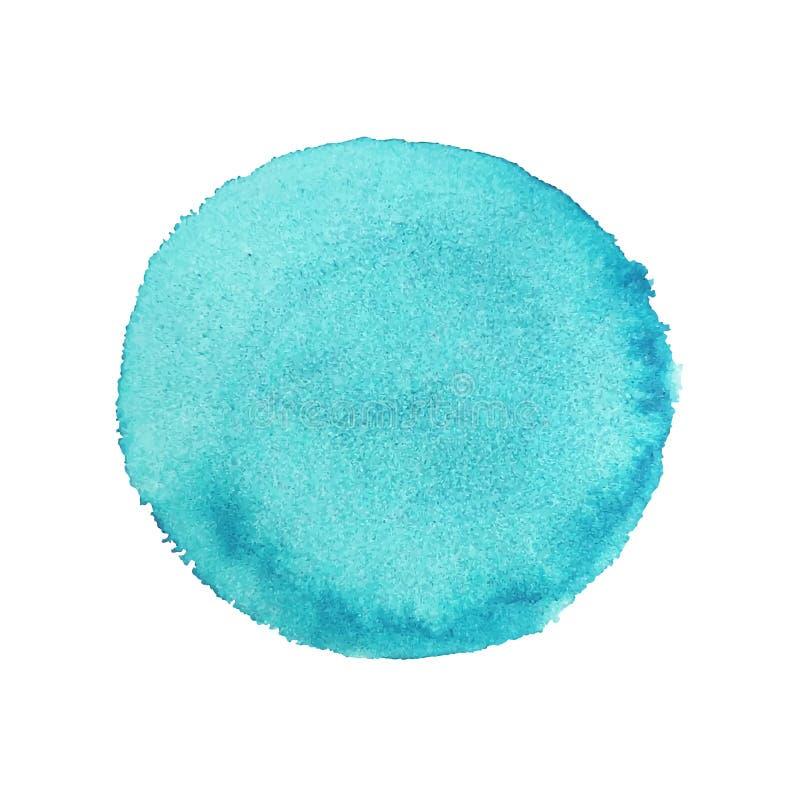 Abstrakter Aquarell-Handfarben-Runden-Hintergrund vektor abbildung