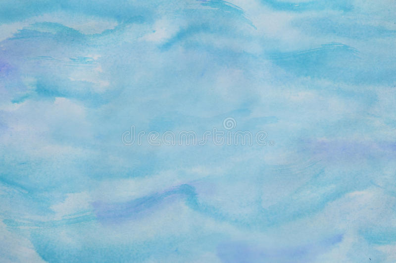 Abstrakter Aquarell-Hintergrund im Aqua vektor abbildung