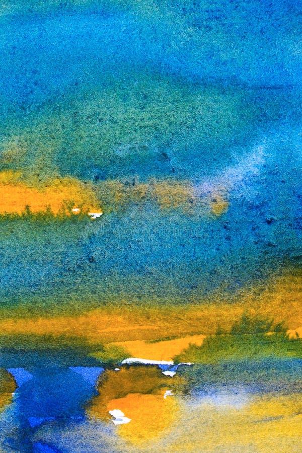 Abstrakter Aquarellhintergrund stockbild