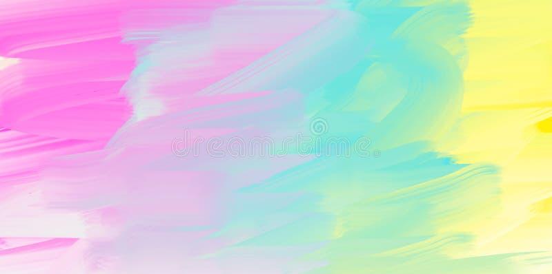 Abstrakter Aquarellhintergrund, bunte Beschaffenheit stock abbildung