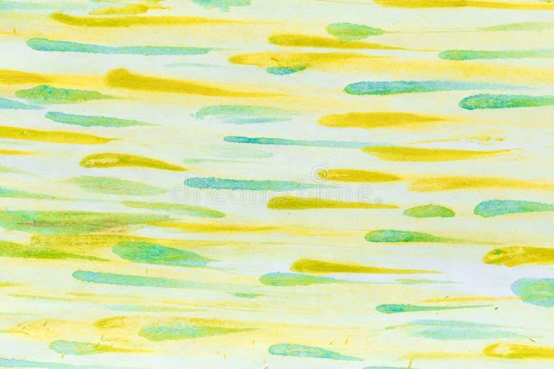 Abstrakter Aquarellhintergrund, der durch Streifen sich bildet Papier mit Weiß gemalten Streifen und Stellen Hintergrund für das  lizenzfreie stockbilder