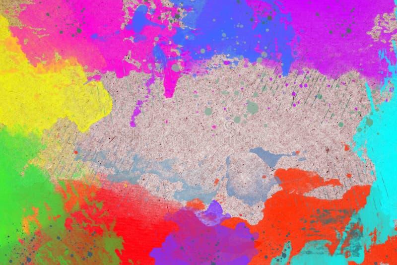 Abstrakter Aquarellhintergrund mit Regenbogenfarben stockfotos