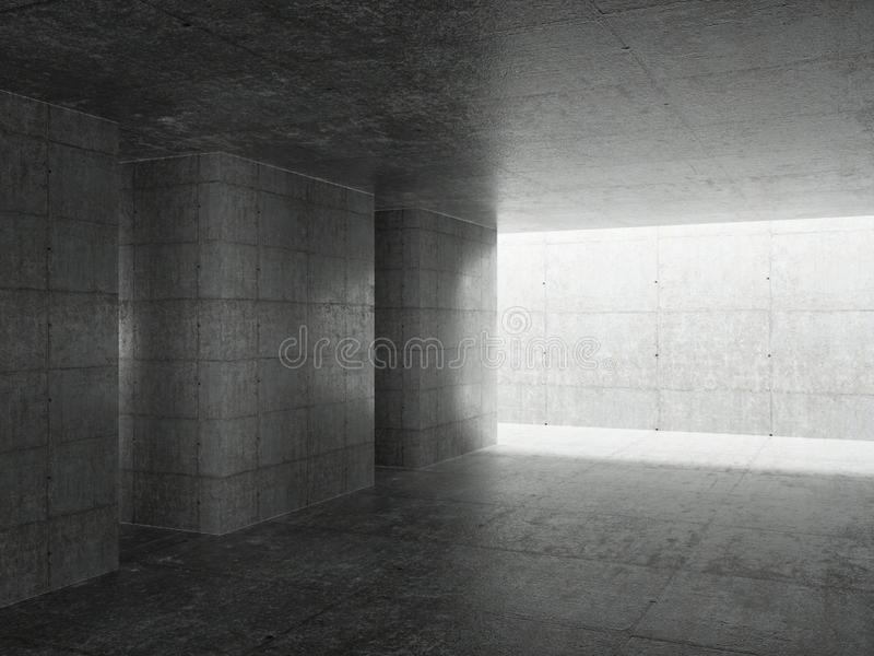 Abstrakter Architektur-Innenraum vektor abbildung
