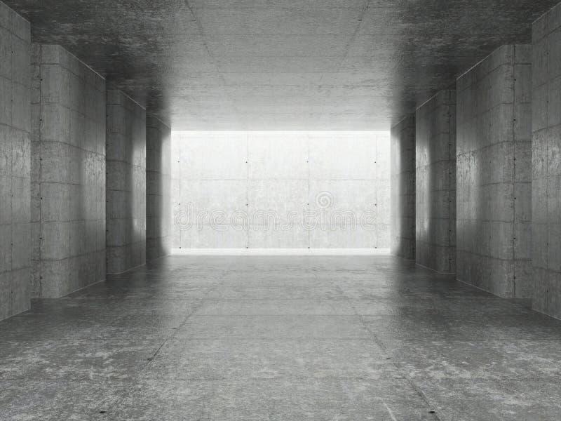 Abstrakter Architektur-Innenraum lizenzfreie abbildung