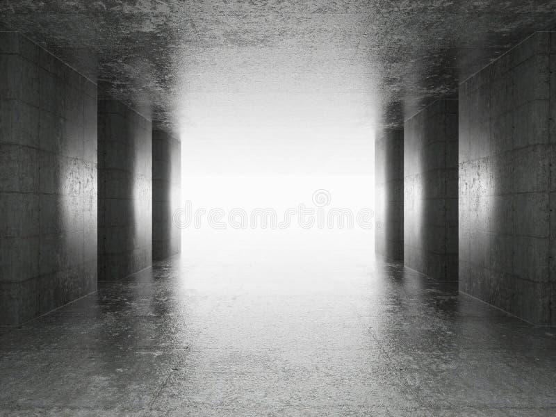 Abstrakter Architektur-Innenraum stock abbildung