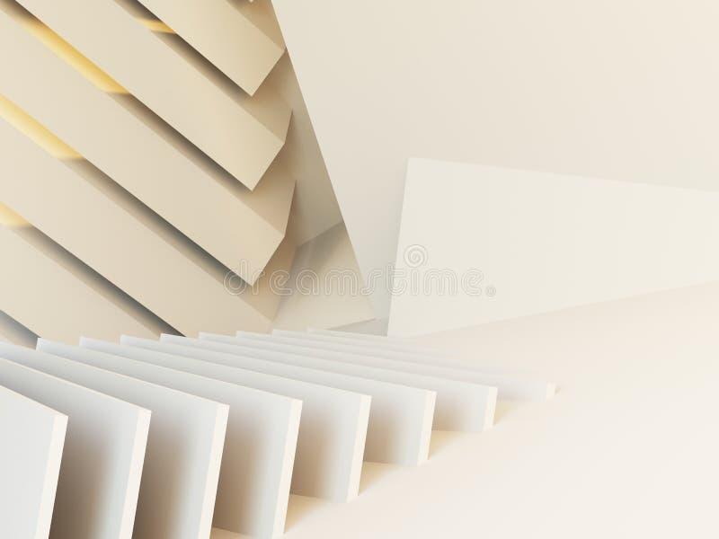 Abstrakter Architekturhintergrund 3d lizenzfreie stockfotos