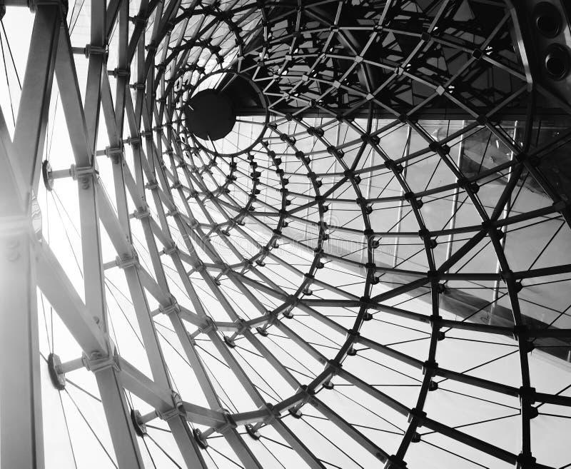 abstrakter Architekturschwarzweiss-Hintergrund stockbild