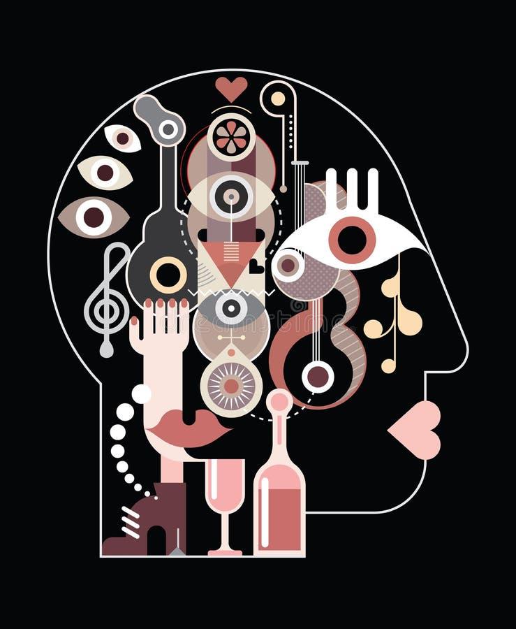 Abstrakter Art Head vektor abbildung