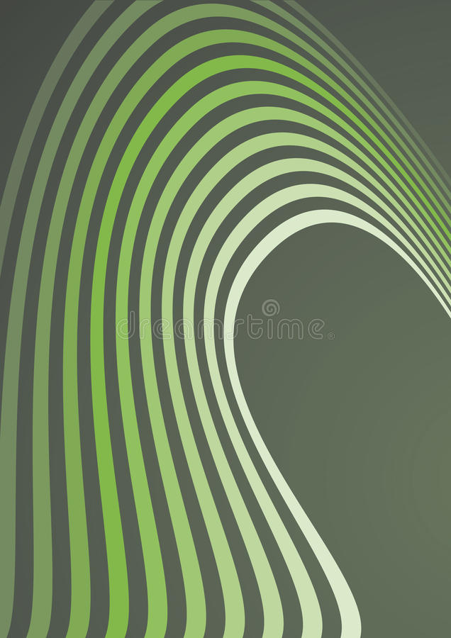 Abstrakter Aufbau der grünen Wellen lizenzfreie abbildung