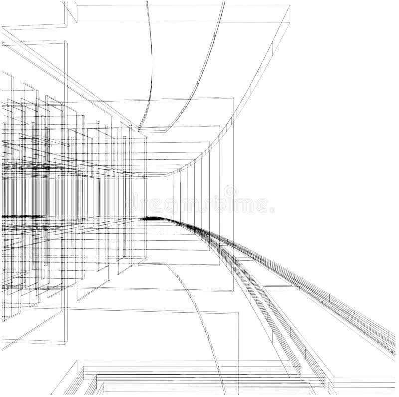 Abstrakter Aufbau der Zeile Vektor 05 stock abbildung