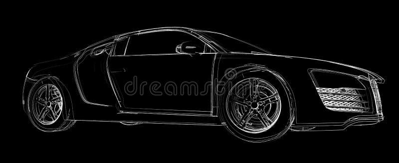 Abstrakter Autoaufbau vektor abbildung