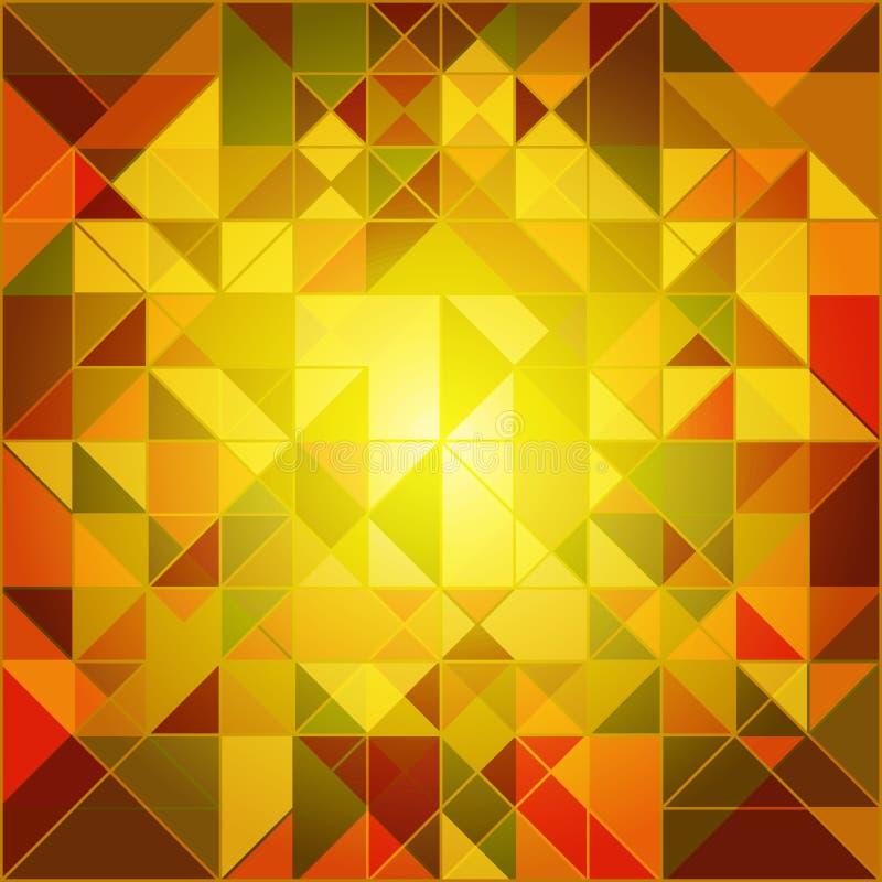 Abstrakter Autumn Colors Geometric Background vektor abbildung