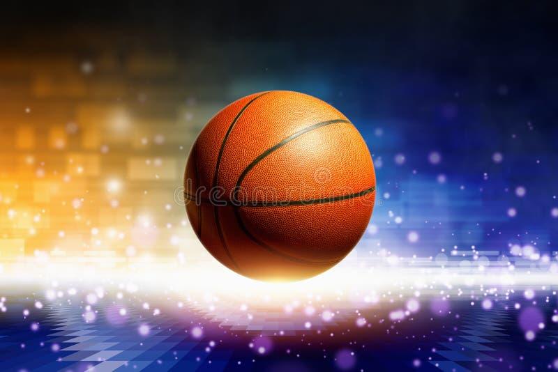Abstrakter Basketball stock abbildung