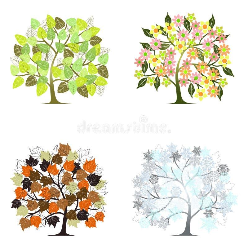 Abstrakter Baum - Grafische Elemente - Vier Jahreszeiten Vektor ...