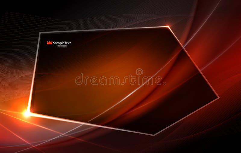 Abstrakter beige Hintergrund als Angelegenheit mit dünnen Streifen und einem polygonalen glänzenden Rahmen lizenzfreie abbildung