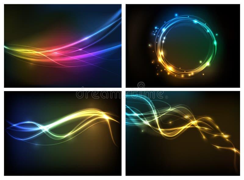 Abstrakter Beleuchtunghintergrund vektor abbildung