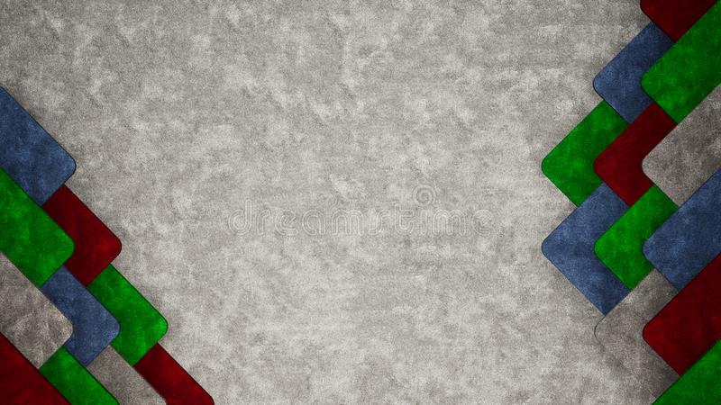 abstrakter Beschaffenheitsgegenstand-Illustrationshintergrund des Teppichs 3D stock abbildung