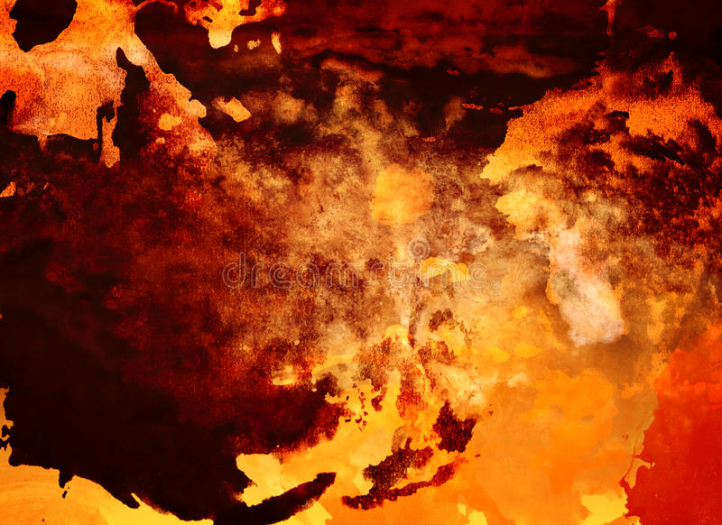 Abstrakter Beschaffenheitshintergrund, -GELB, -ROT und -orange lizenzfreie abbildung